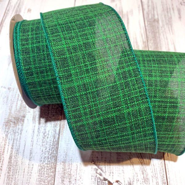 "Emerald Green Textured Ribbon - 2.5"" x 10 yards"