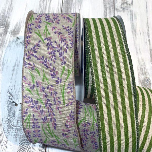 Purple Hyacinth Linen Ribbon Grouping