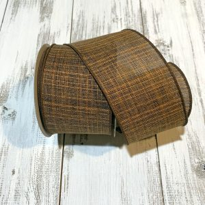 "Chocolate Textured Ribbon - 2.5"" x 10 yards"