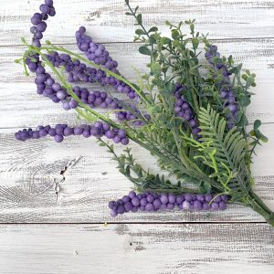 Purple Berry & Greenery Spray - 20""