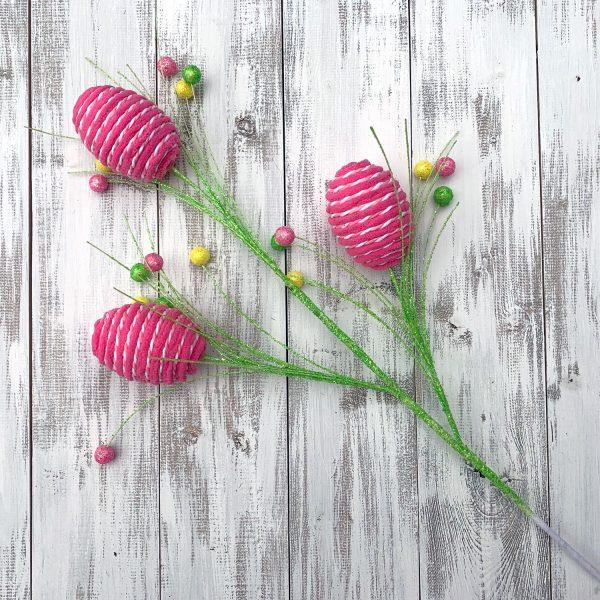 "Yarn-Wrapped Easter Egg Spray - 28"""