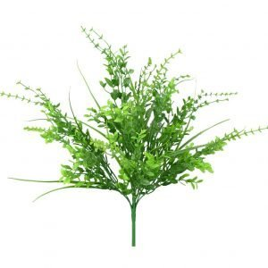 Plastic mix leaf bush x9 - 19H