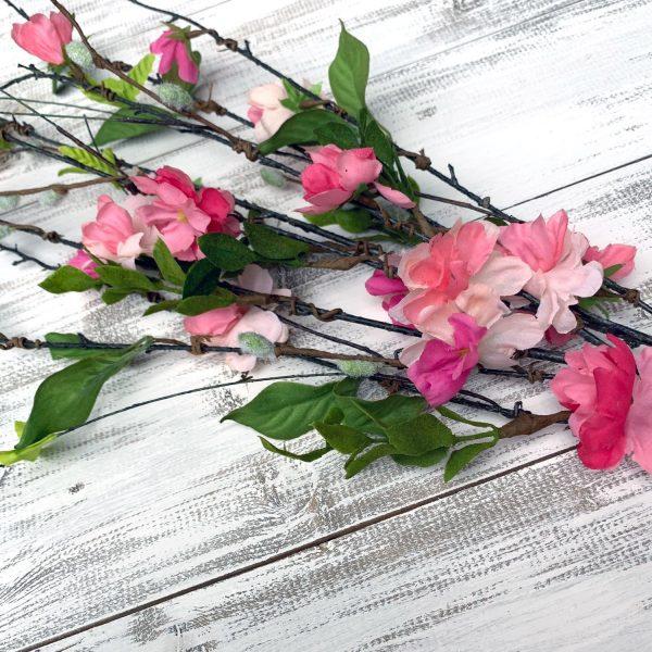 "Blossom & Pussy Willow Branch Spray - 36"""