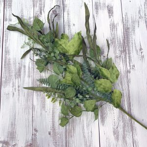 Mixed Fern & Leaf Spray - 33""