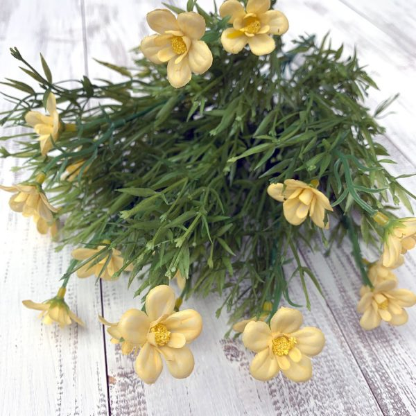 """Butter Yellow Filler Flower Bush x 9 - 18"""""""