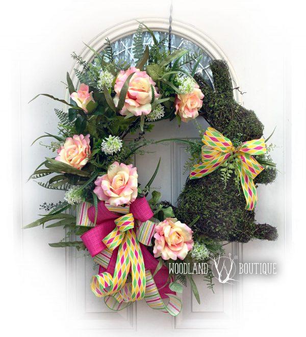 Sunny Garden Bunny Wreath