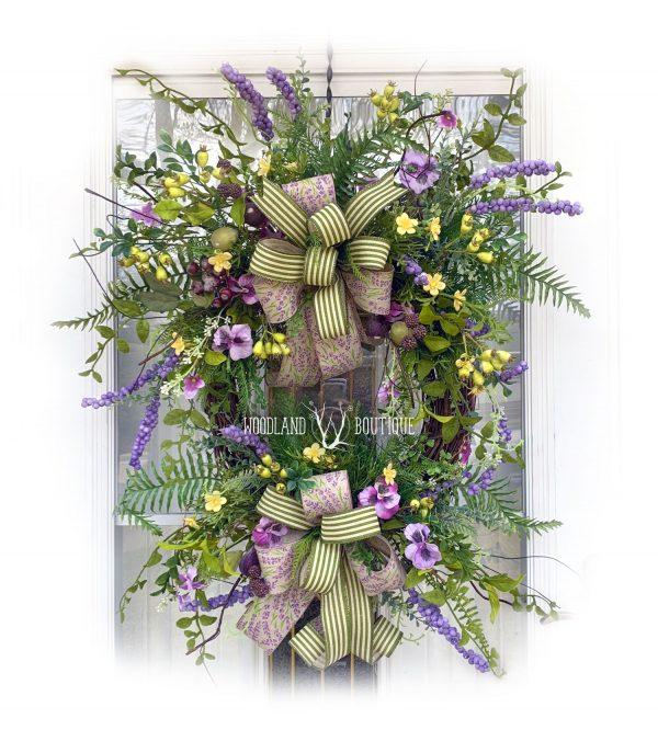 Pansy & Plum Wildflower Wreath