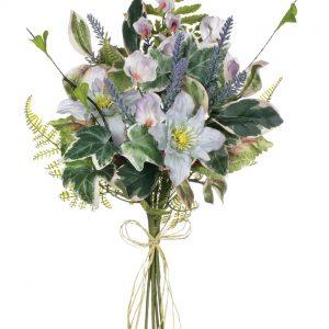 "Clematis, Sweet Pea & Lavender Bouquet - 19"""