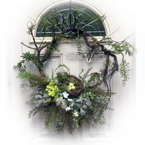 Twiggy Bird Nest Wreath